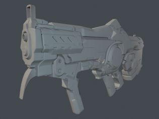 This is the lo-poly with normals applied